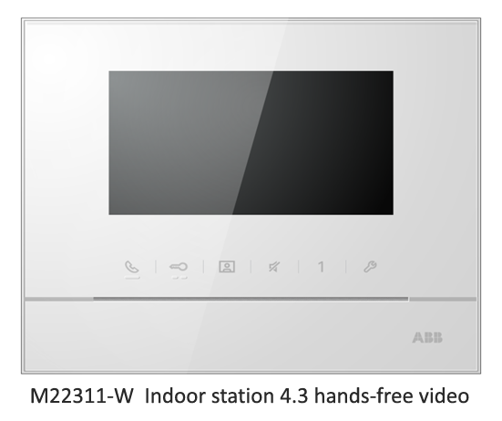 M22311-W Indoor station 4.3 hands-free video